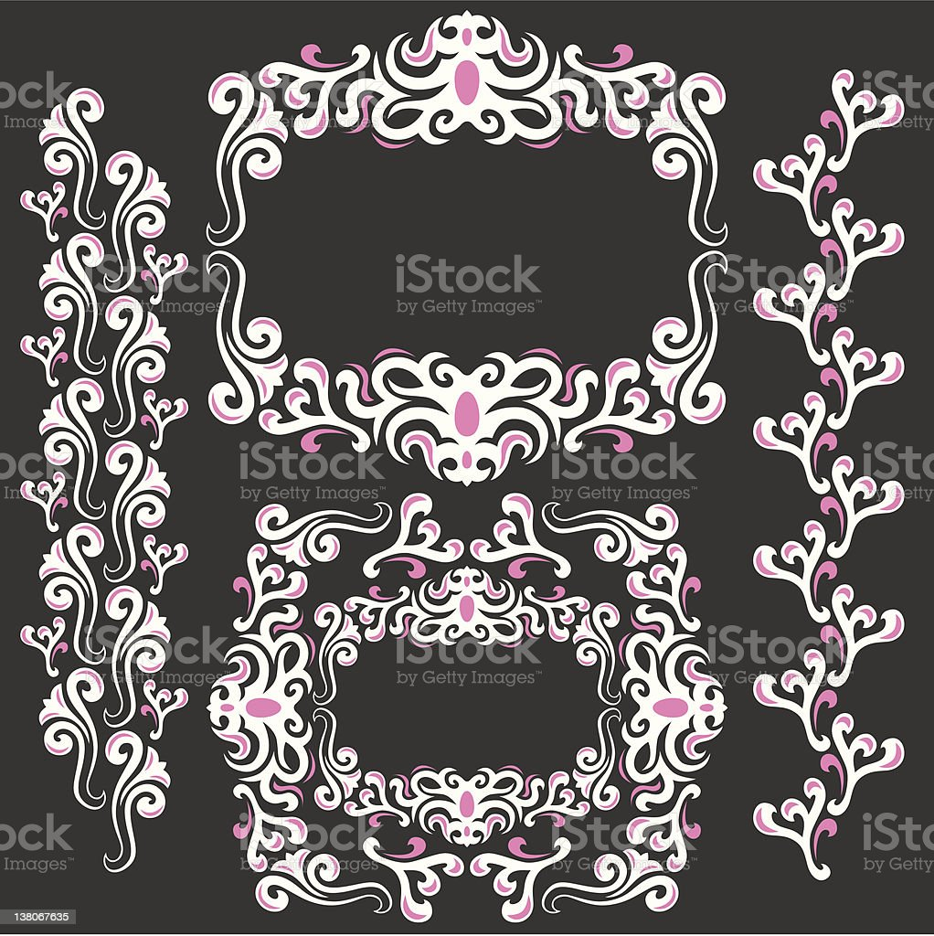 ornament border vector art illustration
