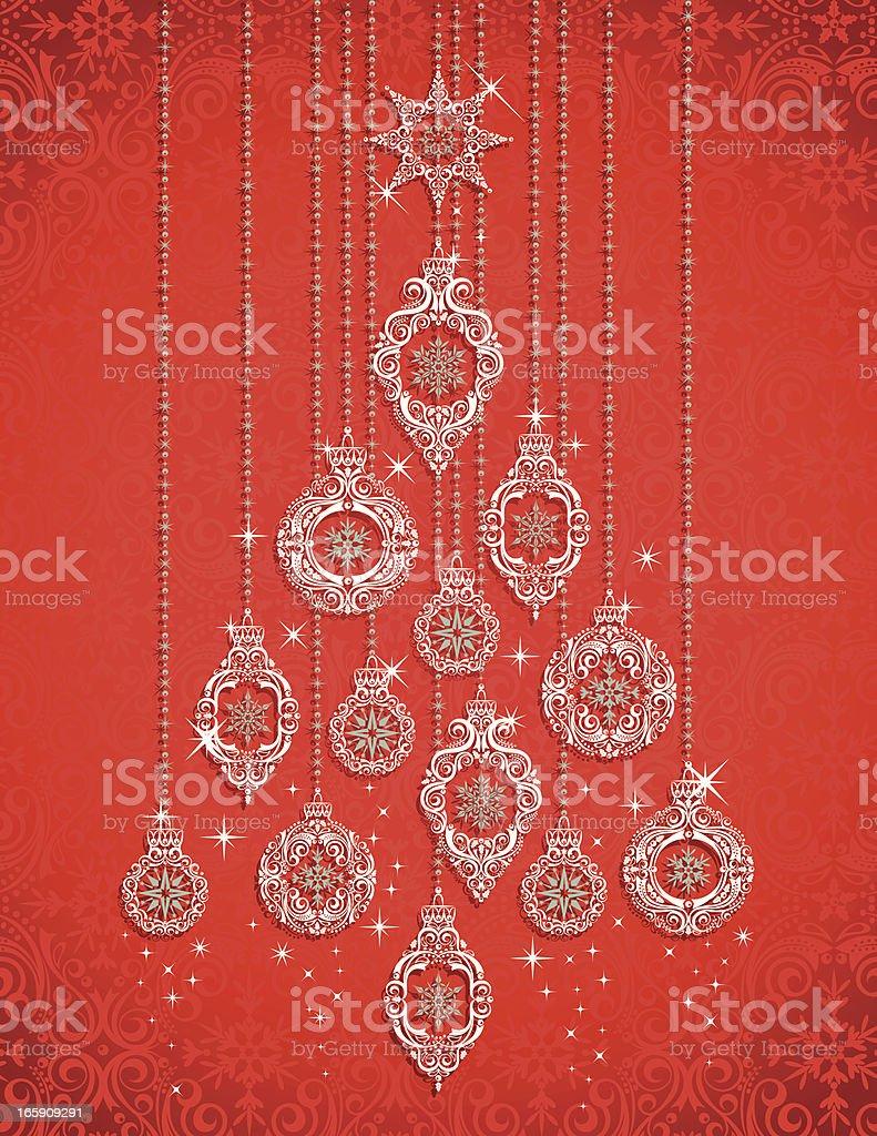 Ornament Christmas Tree royalty-free stock vector art