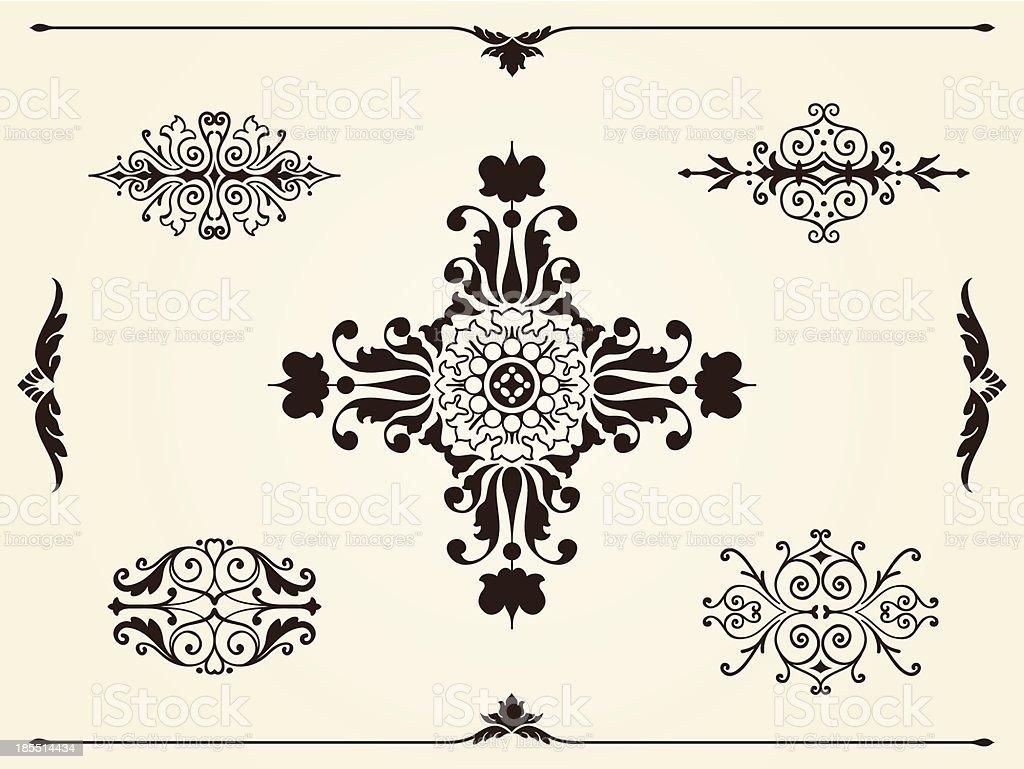 Ornament design elements royalty-free stock vector art