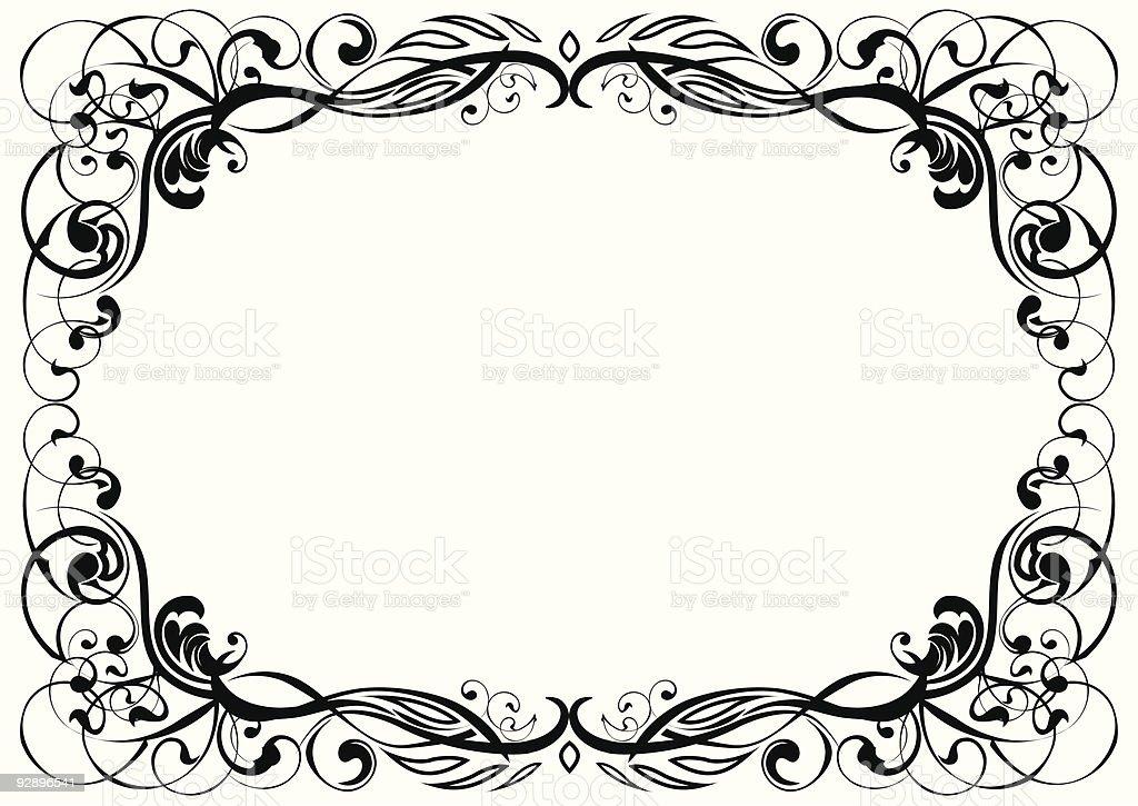 Ornament frame royalty-free stock vector art