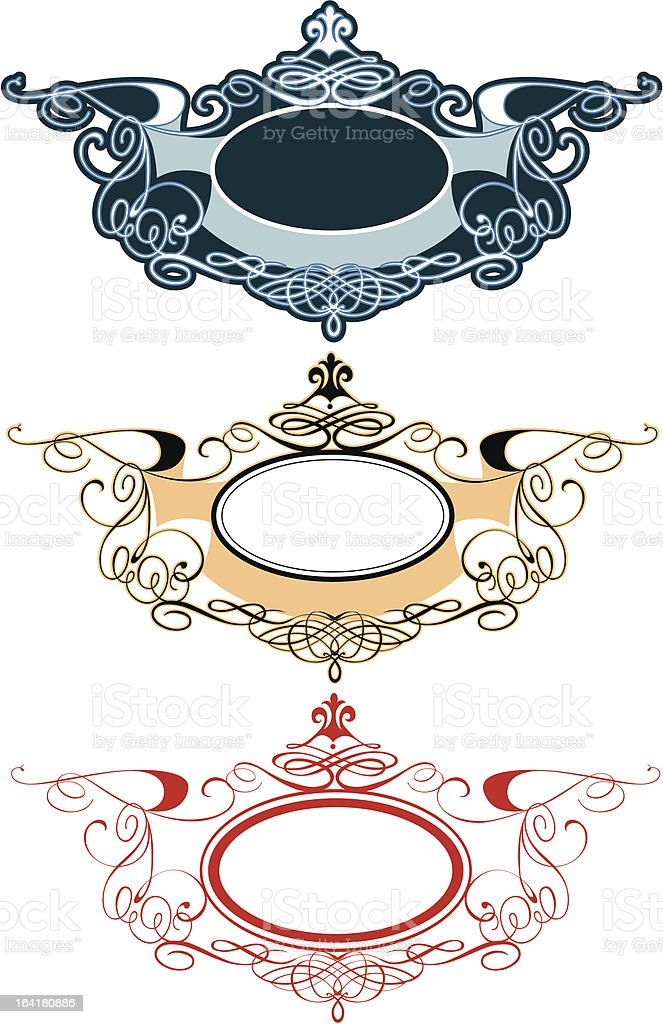 ornament labels royalty-free stock vector art