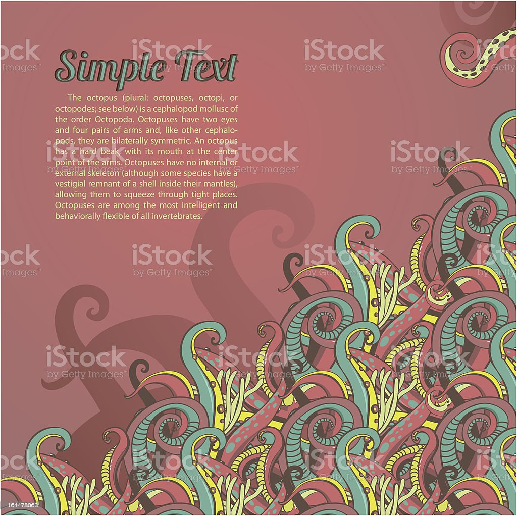 ornament of marine animals with the field for text royalty-free stock vector art