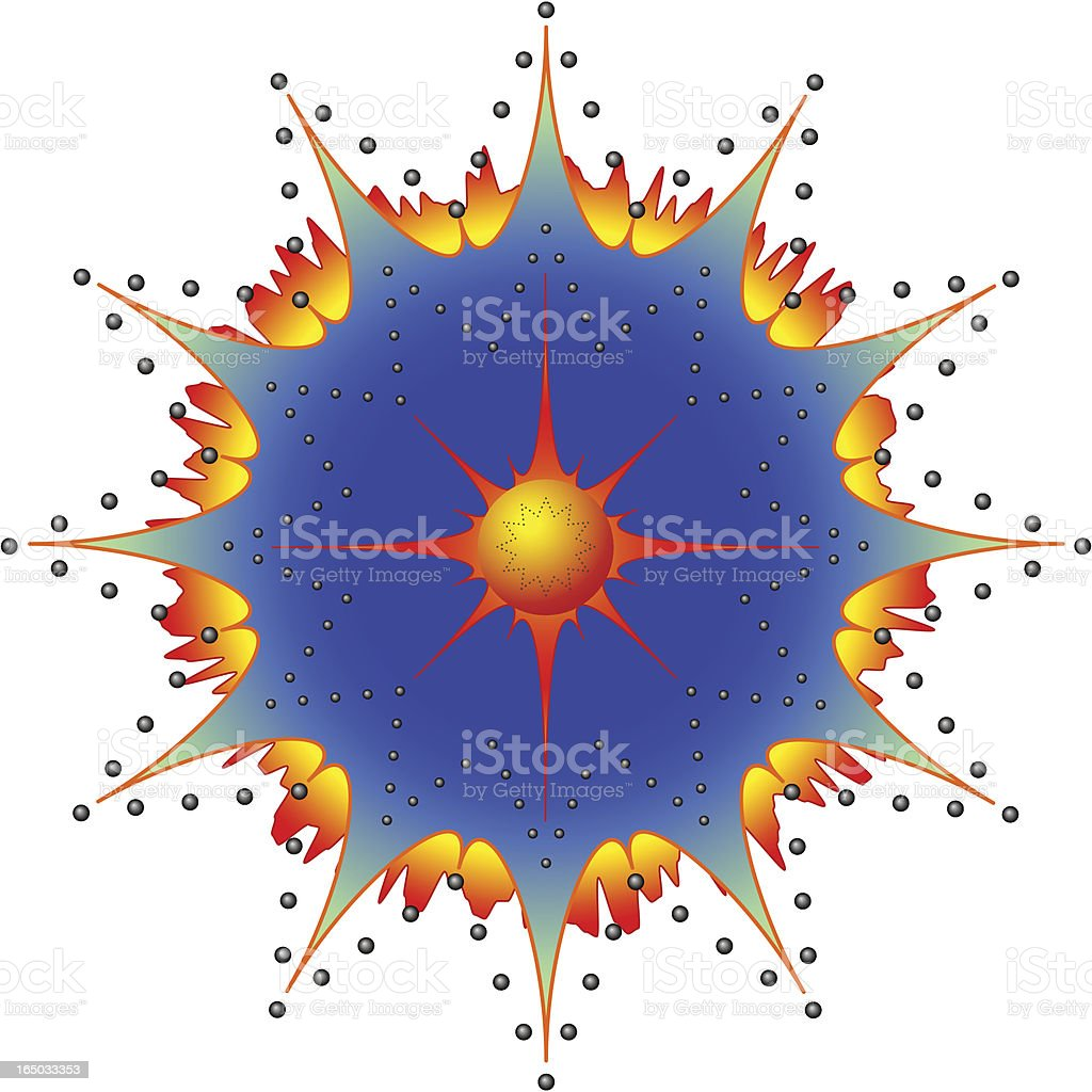 Ornament or Cataclysmic explosion royalty-free stock vector art