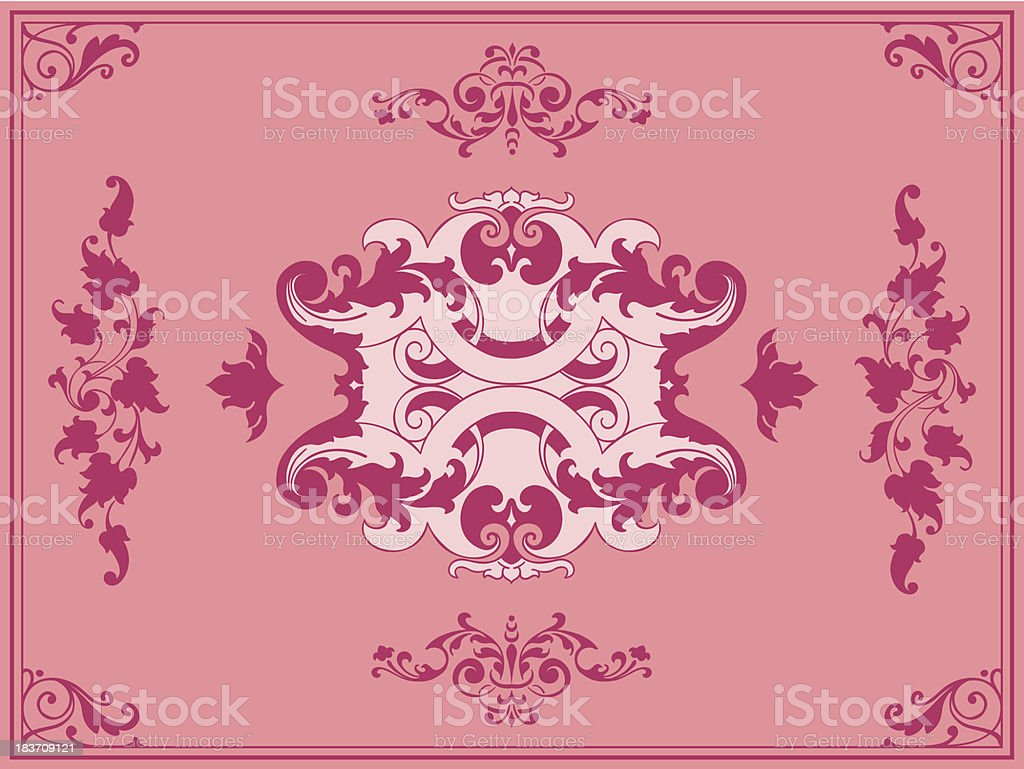 Ornament pink design elements royalty-free stock vector art