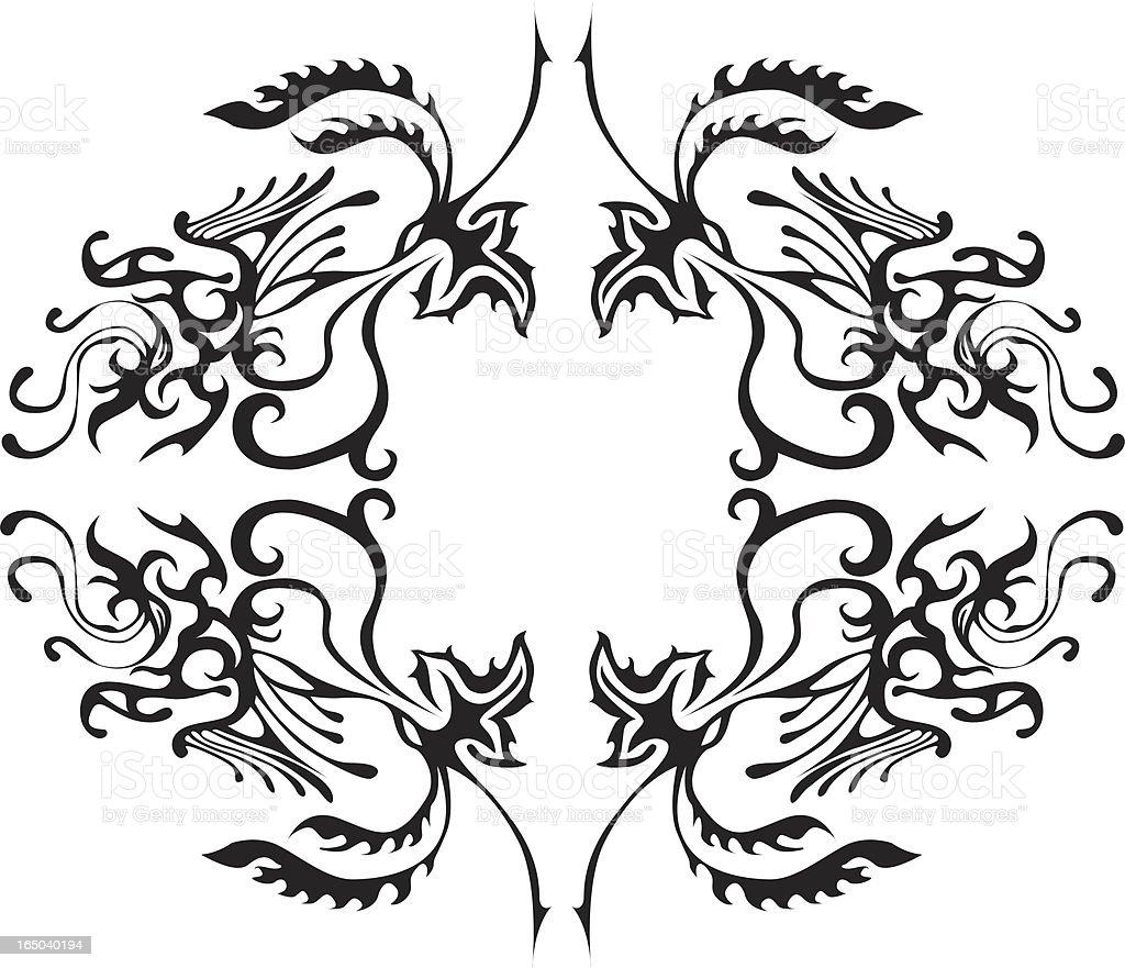 ornament-Serie Lizenzfreies vektor illustration