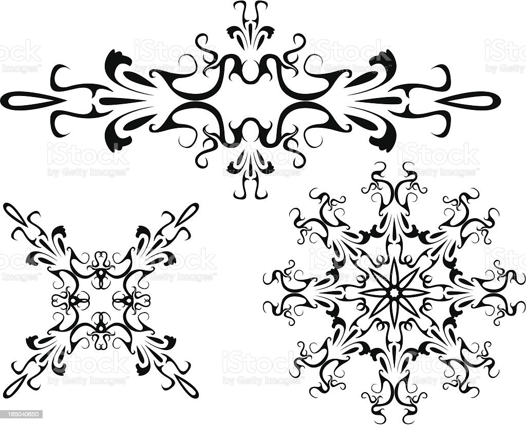 ornament series-delicate scrolls royalty-free stock vector art