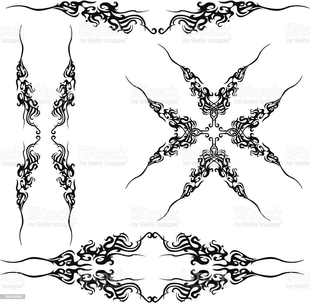 ornament series-scrolls royalty-free stock vector art