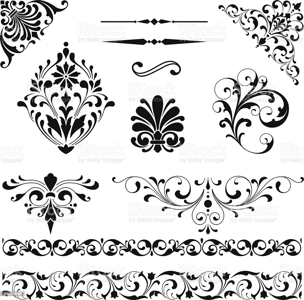 Ornament Set vector art illustration