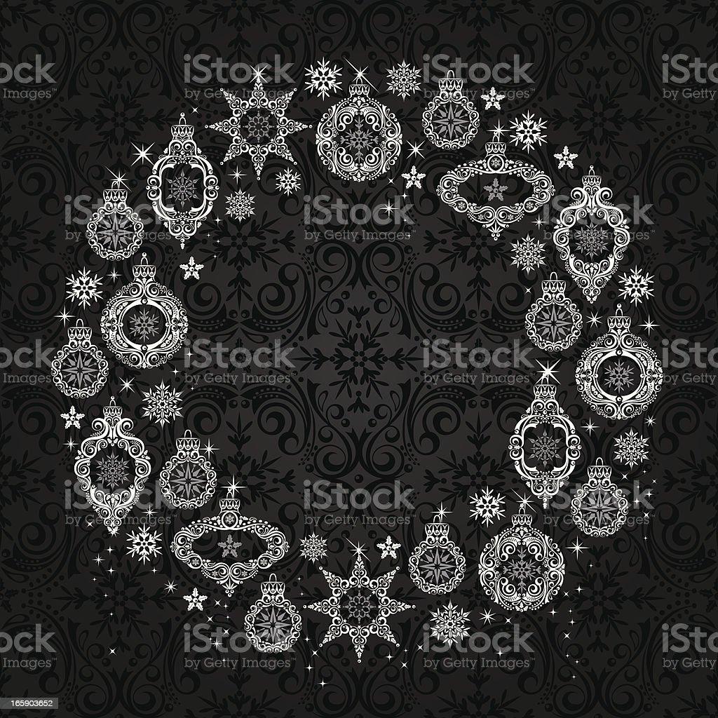 Ornament Wreath royalty-free stock vector art