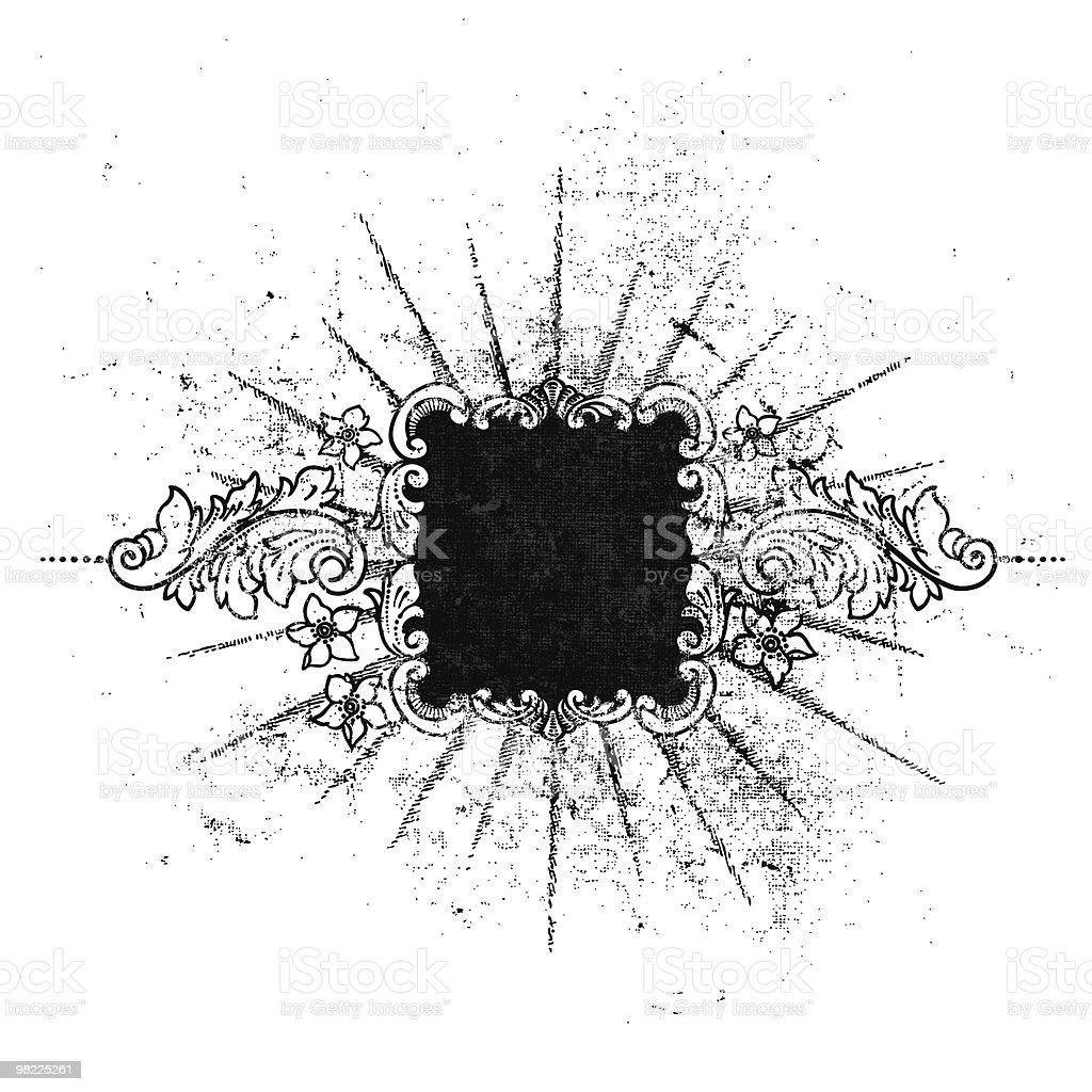 Ornamental Antique Grunge Frame royalty-free stock vector art