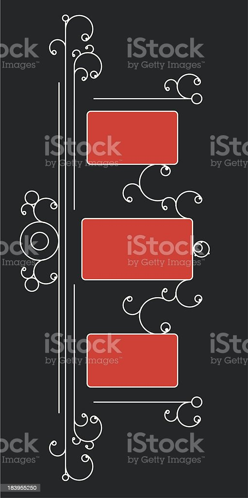 ornamental background with white line and design elements royalty-free stock vector art