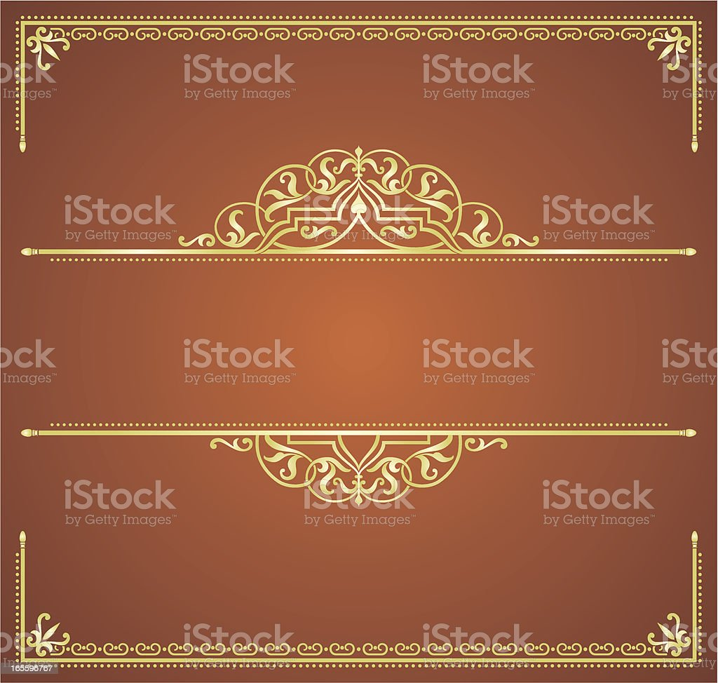Ornamental Banner Gold royalty-free stock vector art