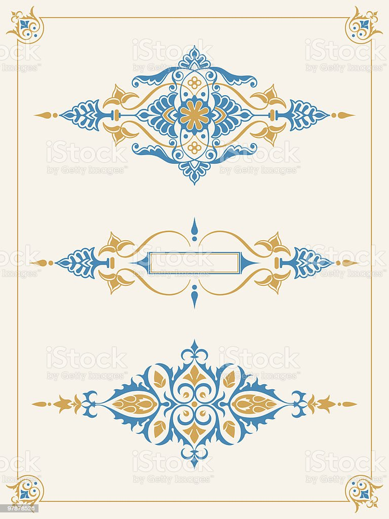 Ornamental border frame design element collection royalty-free stock vector art