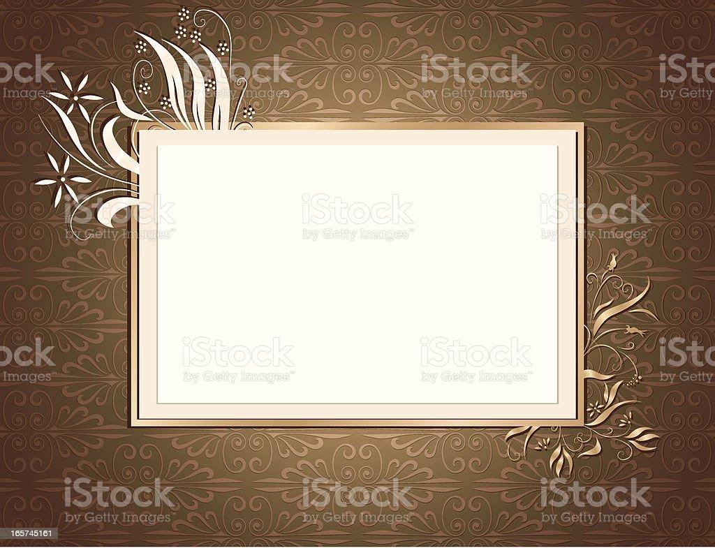 Ornamental Card Brown royalty-free stock vector art