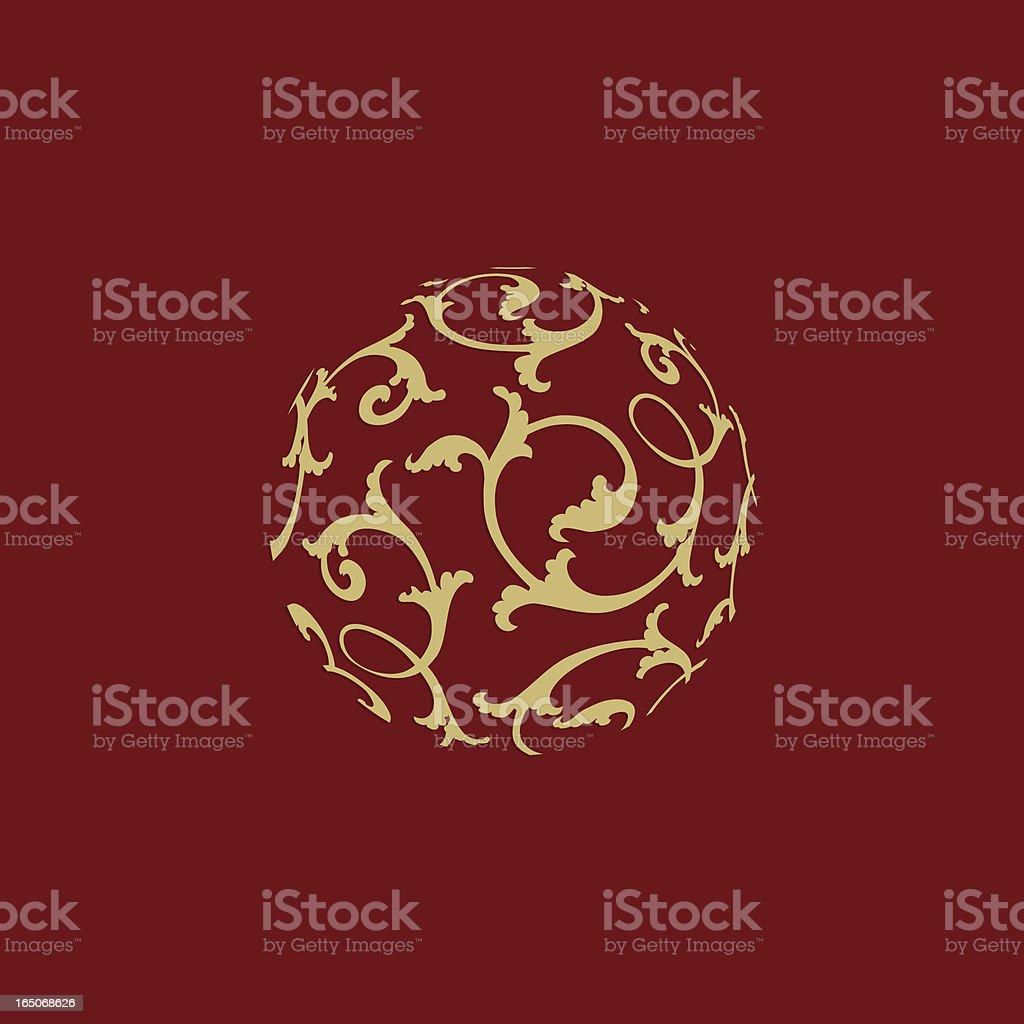Ornamental christmas ball royalty-free stock vector art