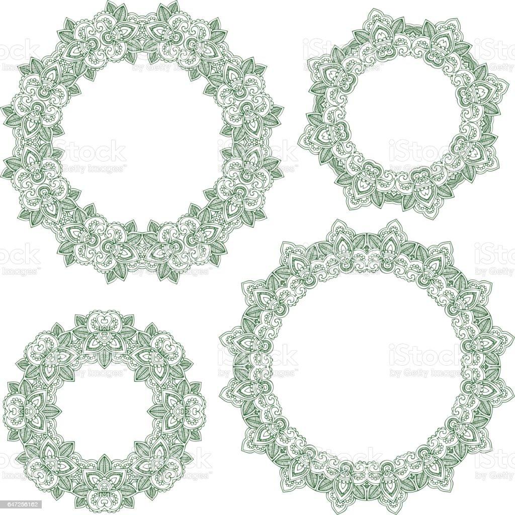 Ornamental circles vector art illustration