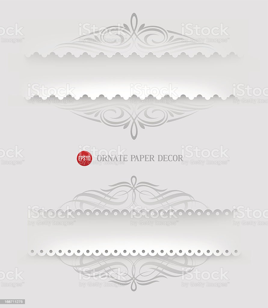 Ornamental decorative paper frames royalty-free stock vector art