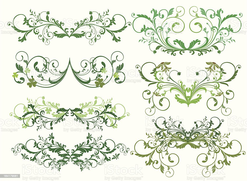 ornamental design elements royalty-free stock vector art
