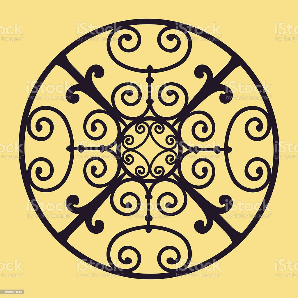 Ornamental design vector art illustration