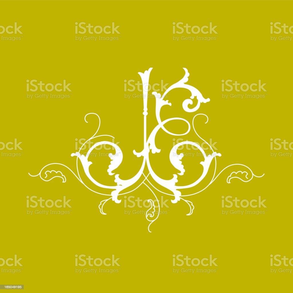Ornamental detail royalty-free stock vector art