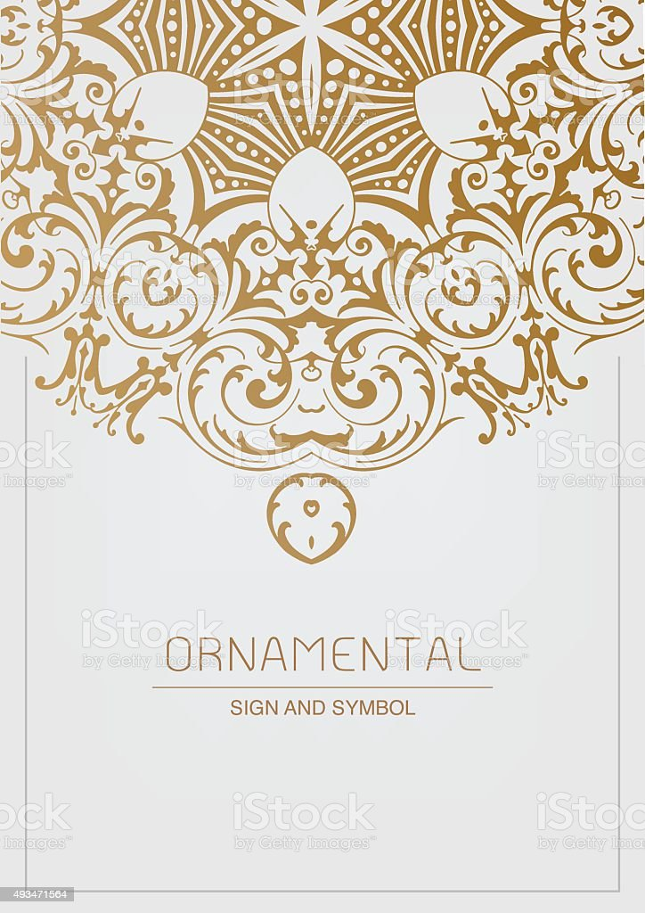 Ornamental element for design, vector art illustration