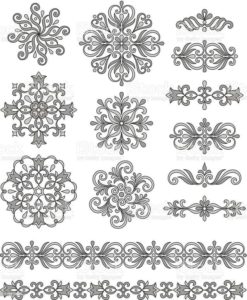 Ornamental elements royalty-free stock vector art