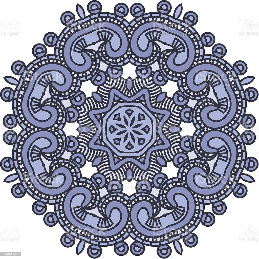 Ornamental ethnicity pattern vector art illustration