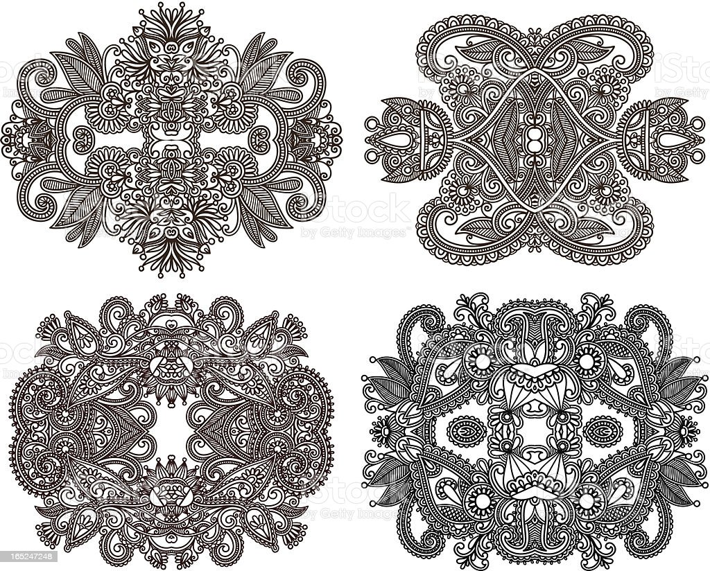 ornamental floral adornment royalty-free stock vector art