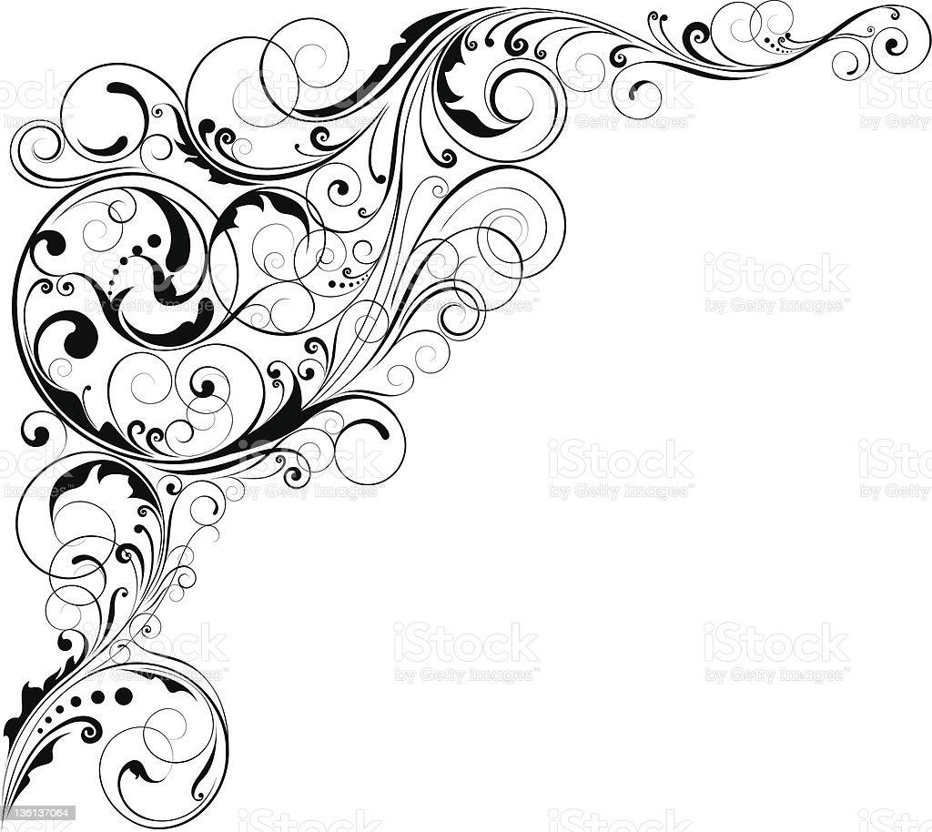 Ornamental floral corner royalty-free stock vector art