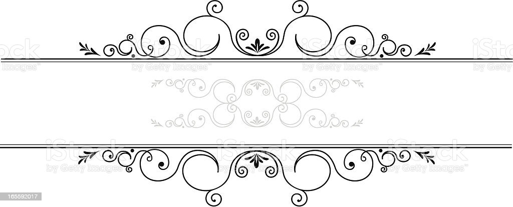 Ornamental floral line royalty-free stock vector art