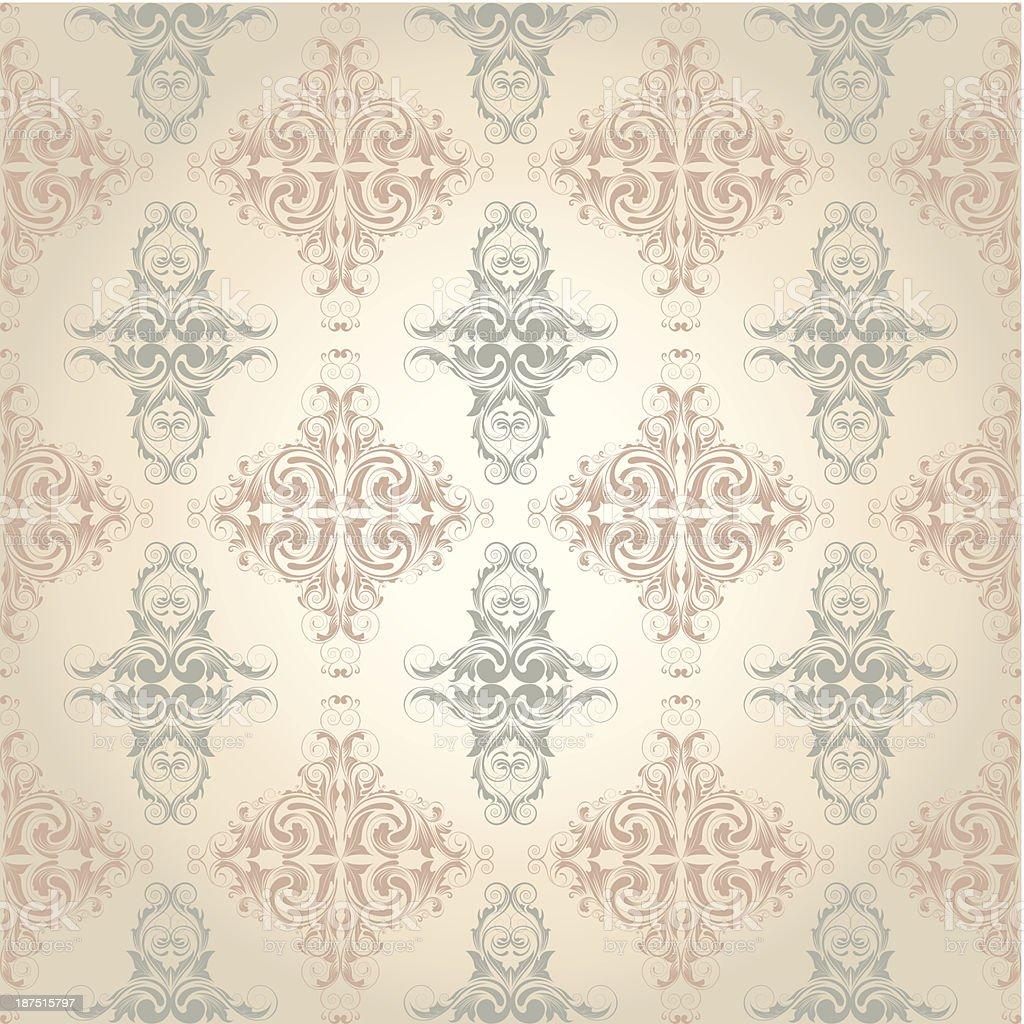 Ornamental floral pattern royalty-free stock vector art