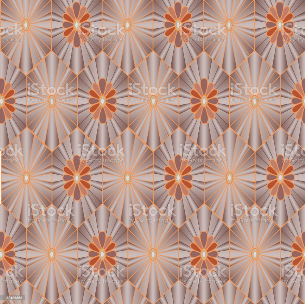 Ornamental floral seamless tiled background royalty-free stock vector art