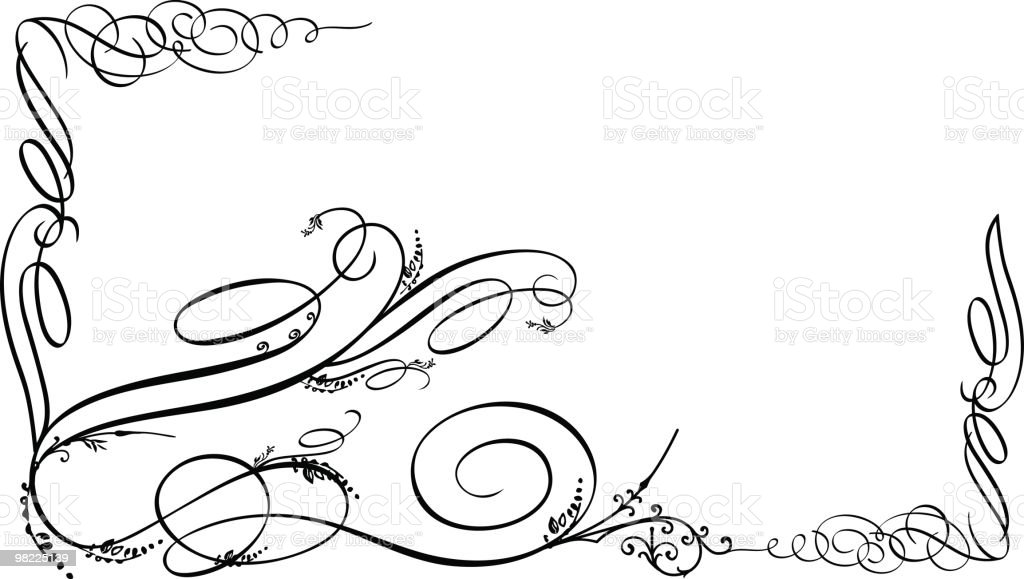 Ornamental Flourishes with Grunge Variations royalty-free stock vector art