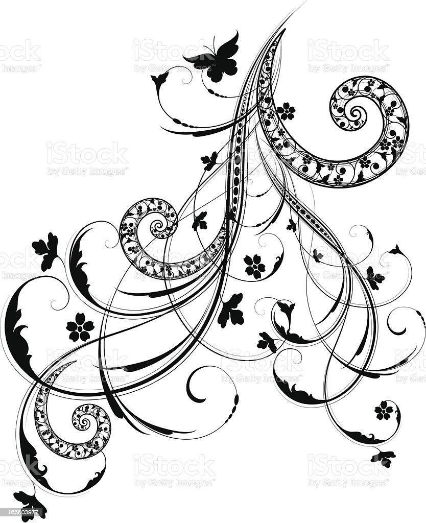 Ornamental Flow royalty-free stock vector art