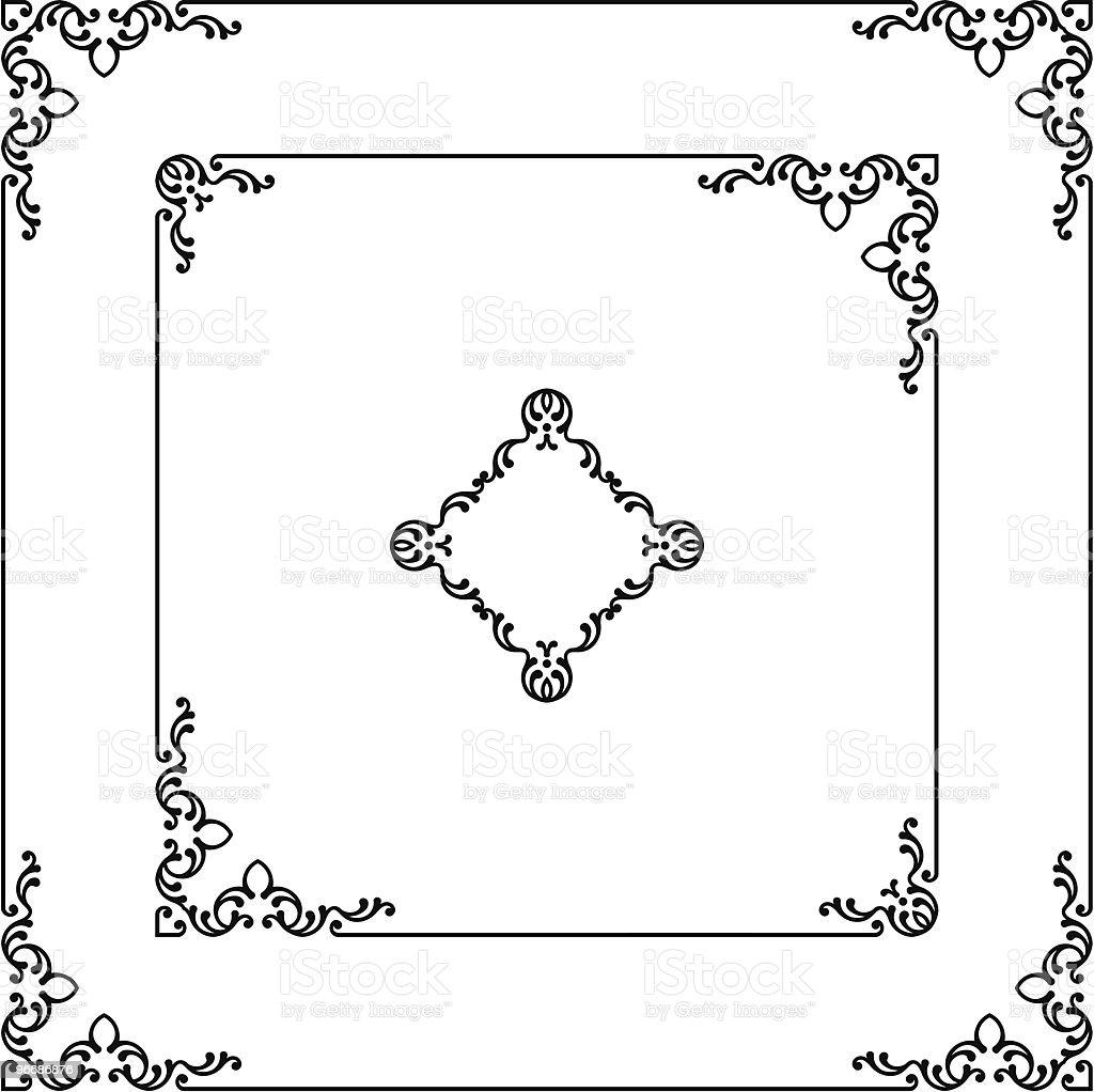 Ornamental Frame, Borders royalty-free stock vector art