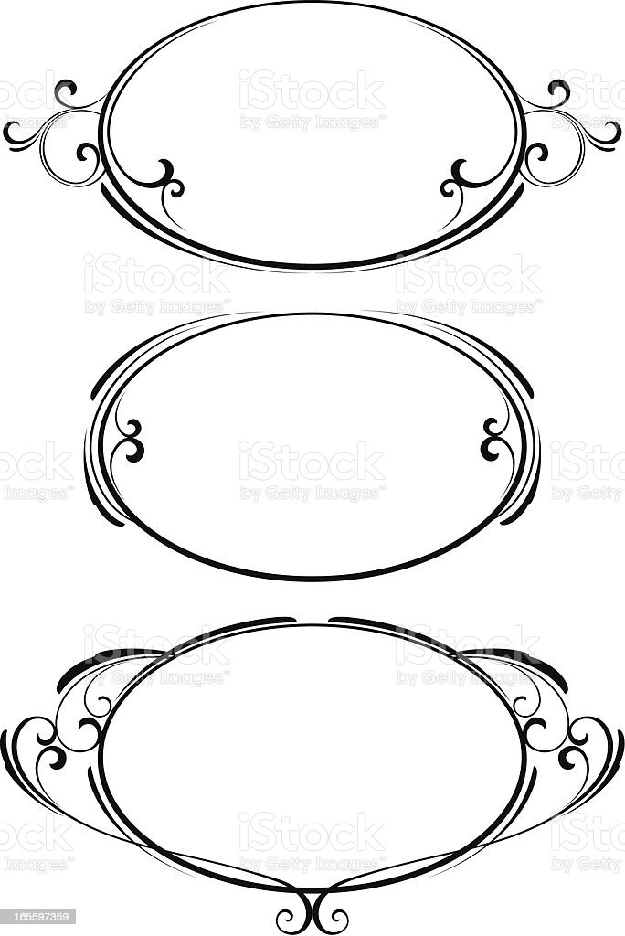 Ornamental frames vector art illustration