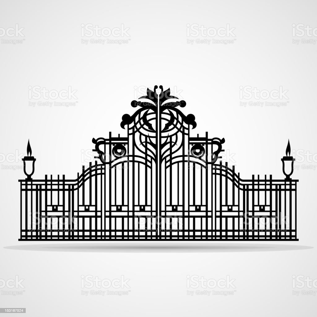 Ornamental Gate vector art illustration