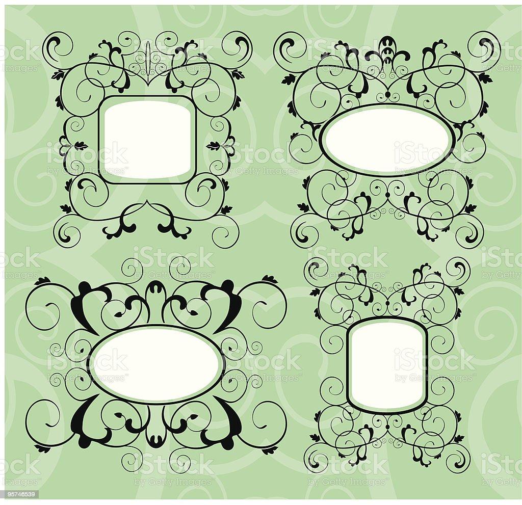 Ornamental labels royalty-free stock vector art
