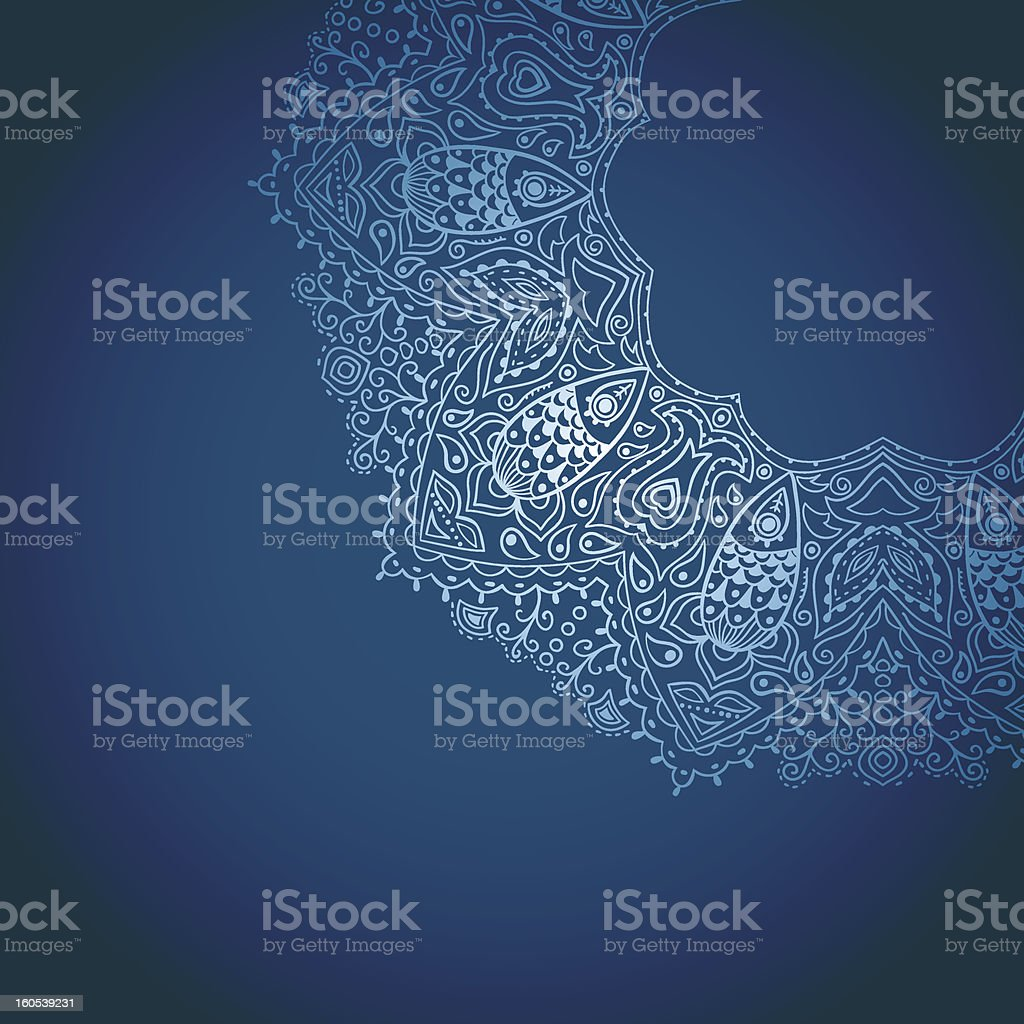 Ornamental lace decoration royalty-free stock vector art
