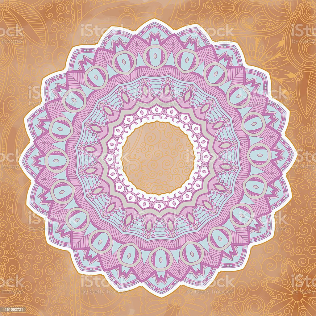 Ornamental lace pattern. Circle. royalty-free stock vector art