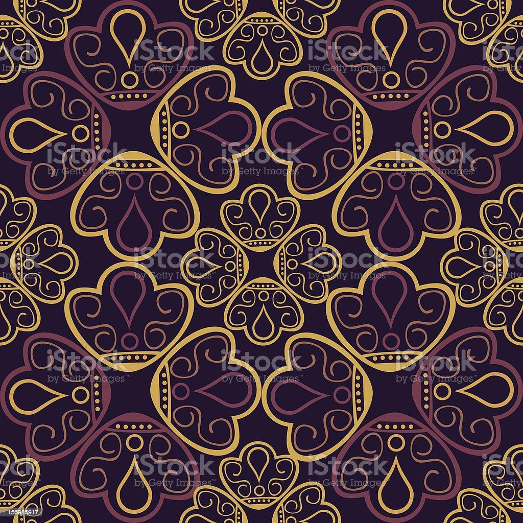 Ornamental  lace pattern. Oriental motif royalty-free stock vector art