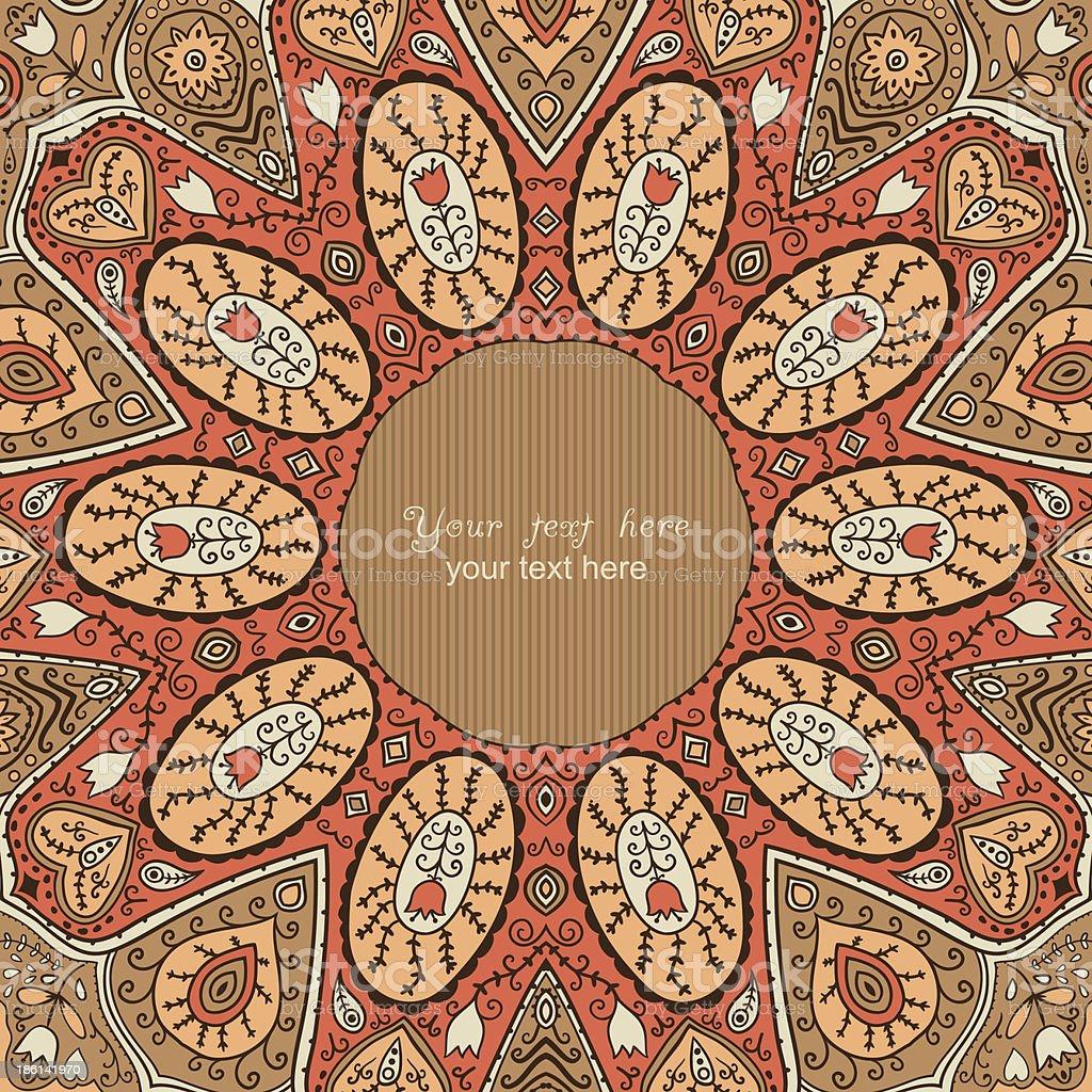 ornamental lace pattern royalty-free stock vector art