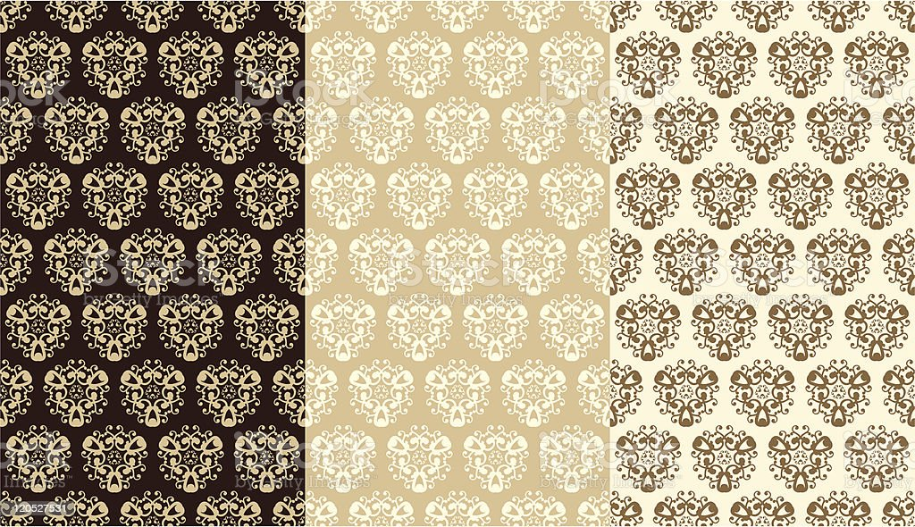 Ornamental pattern in brown colors royalty-free stock vector art