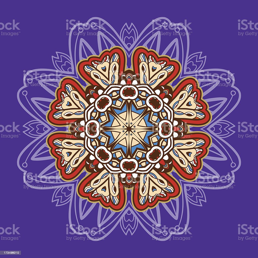 Ornamental round lace. Aztec. royalty-free stock vector art