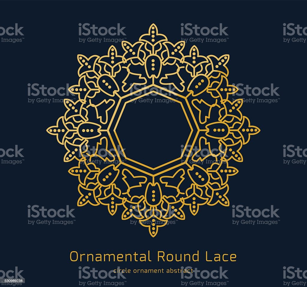 Ornamental round lace, Circle ornament abstract.Vector design vector art illustration