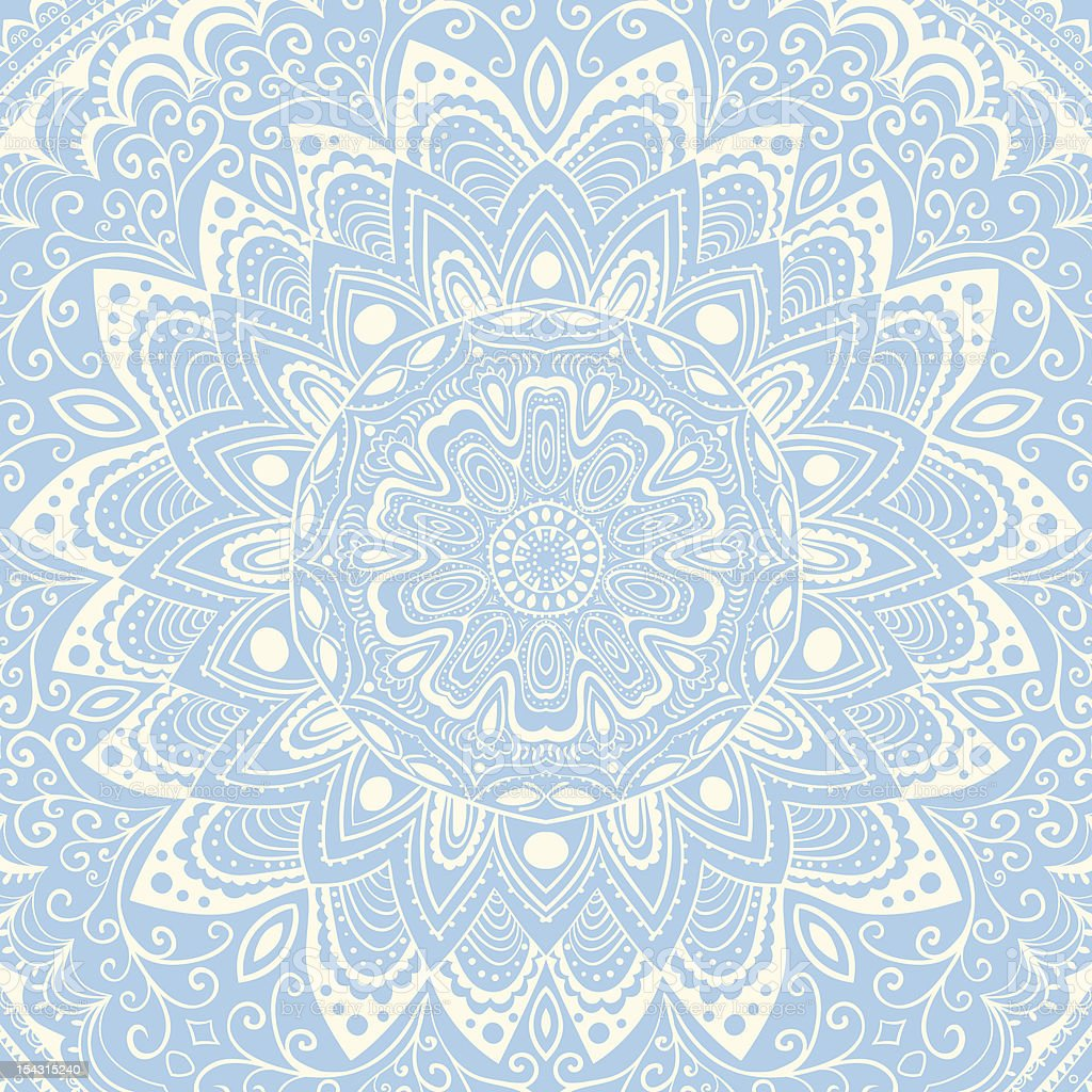 Ornamental round lace pattern royalty-free stock vector art