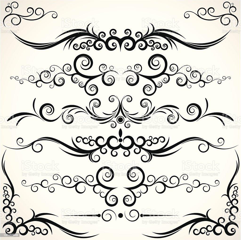 Ornamental rule lines royalty-free stock vector art
