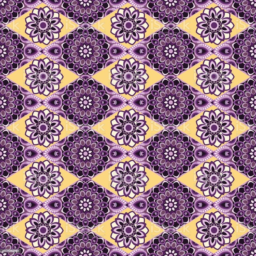 Ornamental seamless pattern. East, oriental design, ethnic style vector art illustration