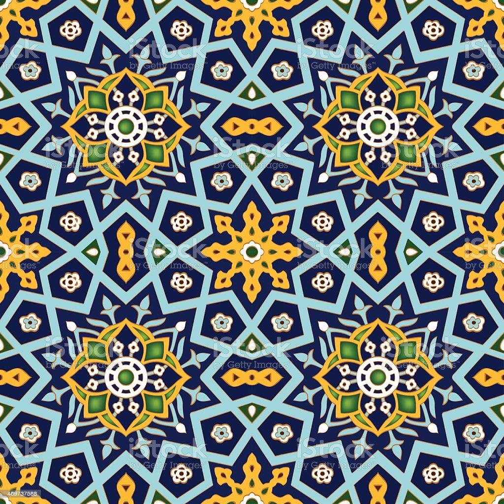 Ornamental Seamless Pattern Vector Geometrical Islamic