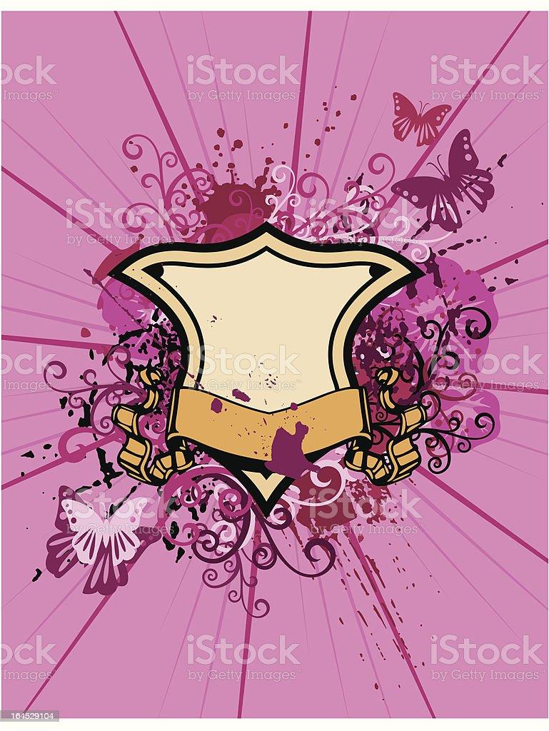 Ornamental Shield Background royalty-free stock vector art